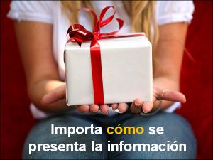 Importa cómo se presenta la información
