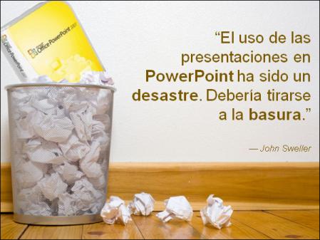 Tira tus viejas presentaciones en PowerPoint a la basura