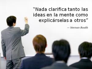 Ensayar te ayuda a clarificar tus ideas