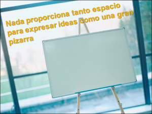 Nada proporciona tanto espacio para expresar ideas como una gran pizarra