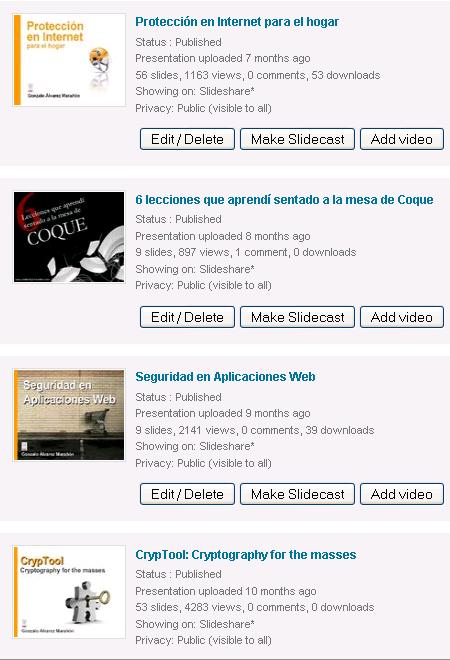 Seguimiento de visualizaciones en SlideShare