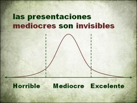 Las presentaciones mediocres son invisibles