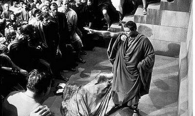 Marco Antonio persuadiendo al pueblo romano de la bondad de César