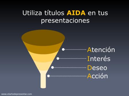 Utiliza títulos AIDA en tus presentaciones